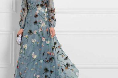 Valentino Appliquéd Silk-Organza Gown_1