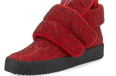 Giuseppe Zanotti Men's Crystal-Studded High-Top Sneaker