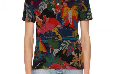 Valentino Tropical-Print Polo Shirt