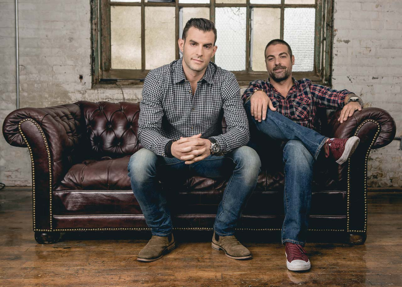2016-5-17 Jersey City NJ. Anthony Carrino and John Colaneri (HGTV's Kitchen Cousins) Photographed by: Greg Pallante