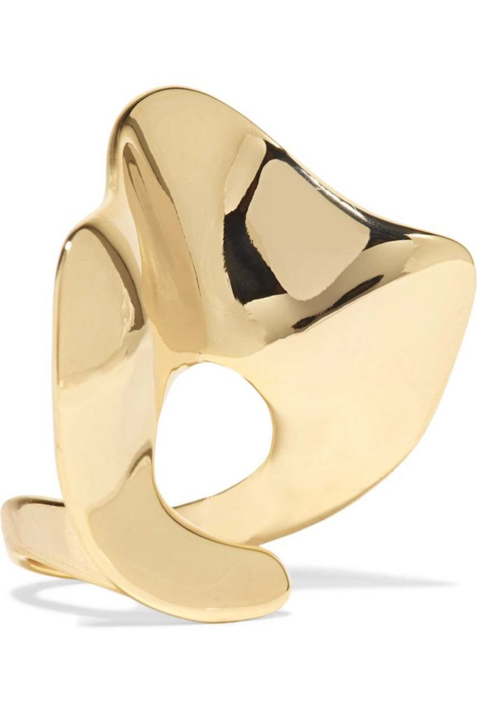 Arme De L'Amour Ruffle Gold-Plated Ring 1