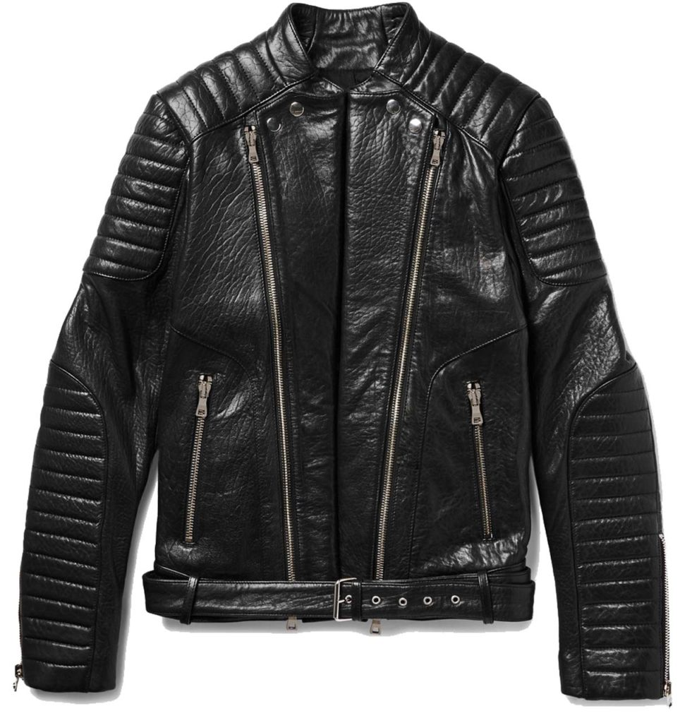 BALMAIN Quilted Textured-Leather Biker Jacket_1