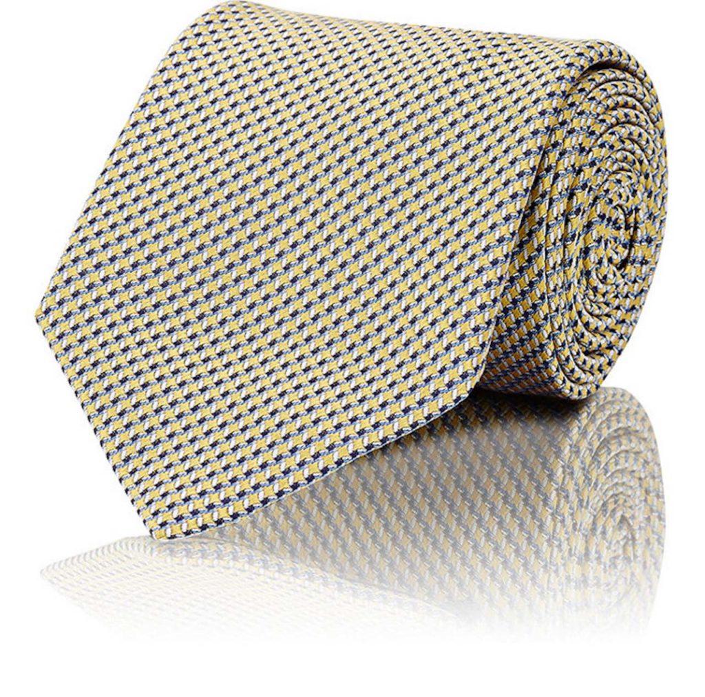 Brioni Basket-Weave Neat Silk Necktie 2