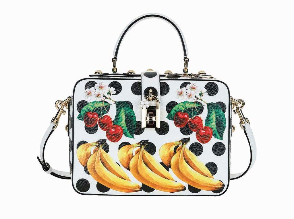 Dolce & Gabbana Dolce Tropical-Fruit Top-Handle Satchel Bag_1