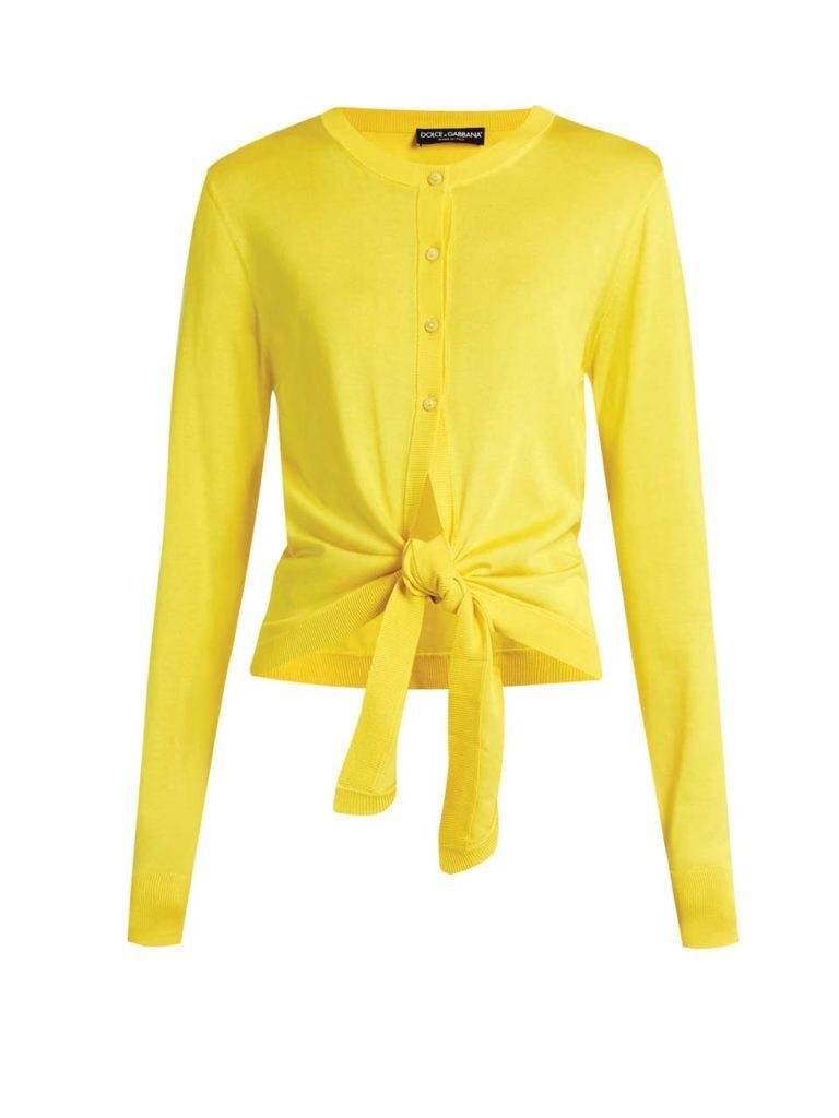Dolce & Gabbana Tie-front silk-knit cardigan_1
