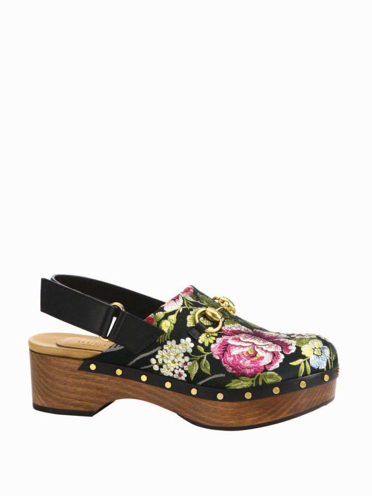 Gucci Amstel Floral Jacquard Slingback Clogs_1