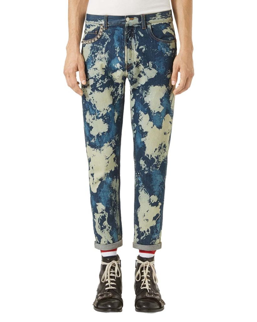 Gucci Bleached Denim Punk Pants_1