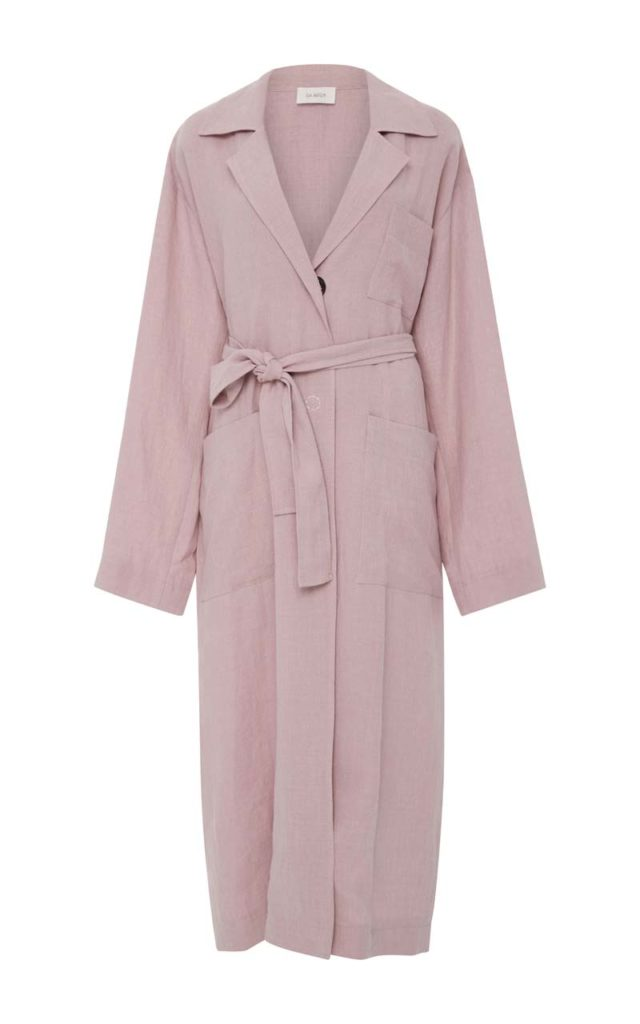 Isa Arfen Long Safari Trench Coat