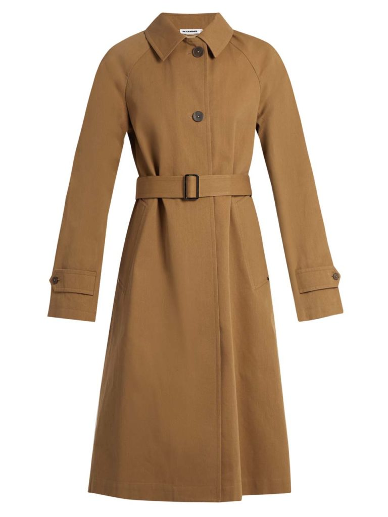 Jil Sander Croquet Single-Breasted Cotton Trench Coat 1
