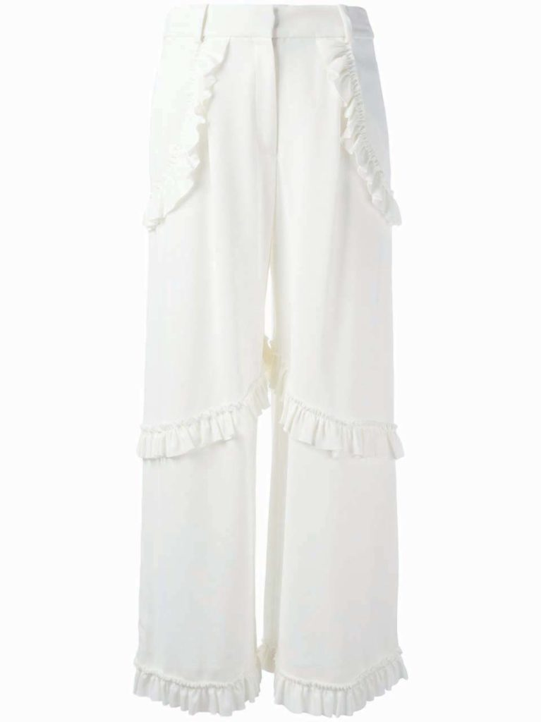 Simone Rocha Ruffled Trim Trousers_1