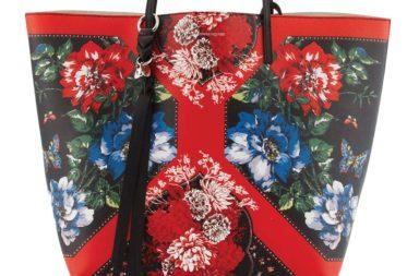 Alexander McQueen Skull Multi-Print Leather Shopper Tote Bag_1