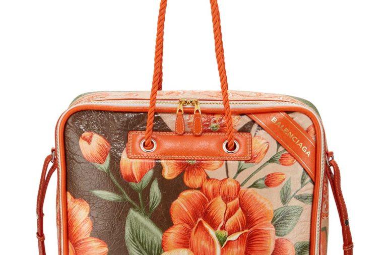 Balenciaga Blanket Square Medium Floral-Print Tote Bag_1