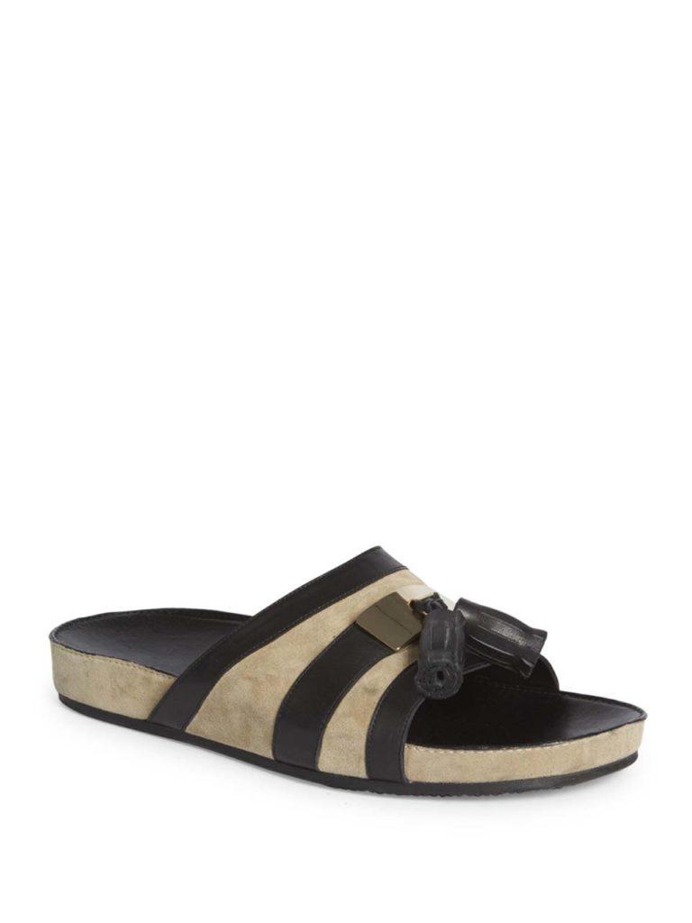 Balmain Balmain Tassel Calf Leather Slides