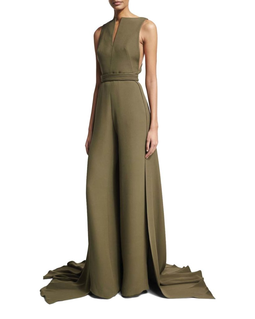 31d38565808 Brandon Maxwell Sleeveless Jumpsuit with Train
