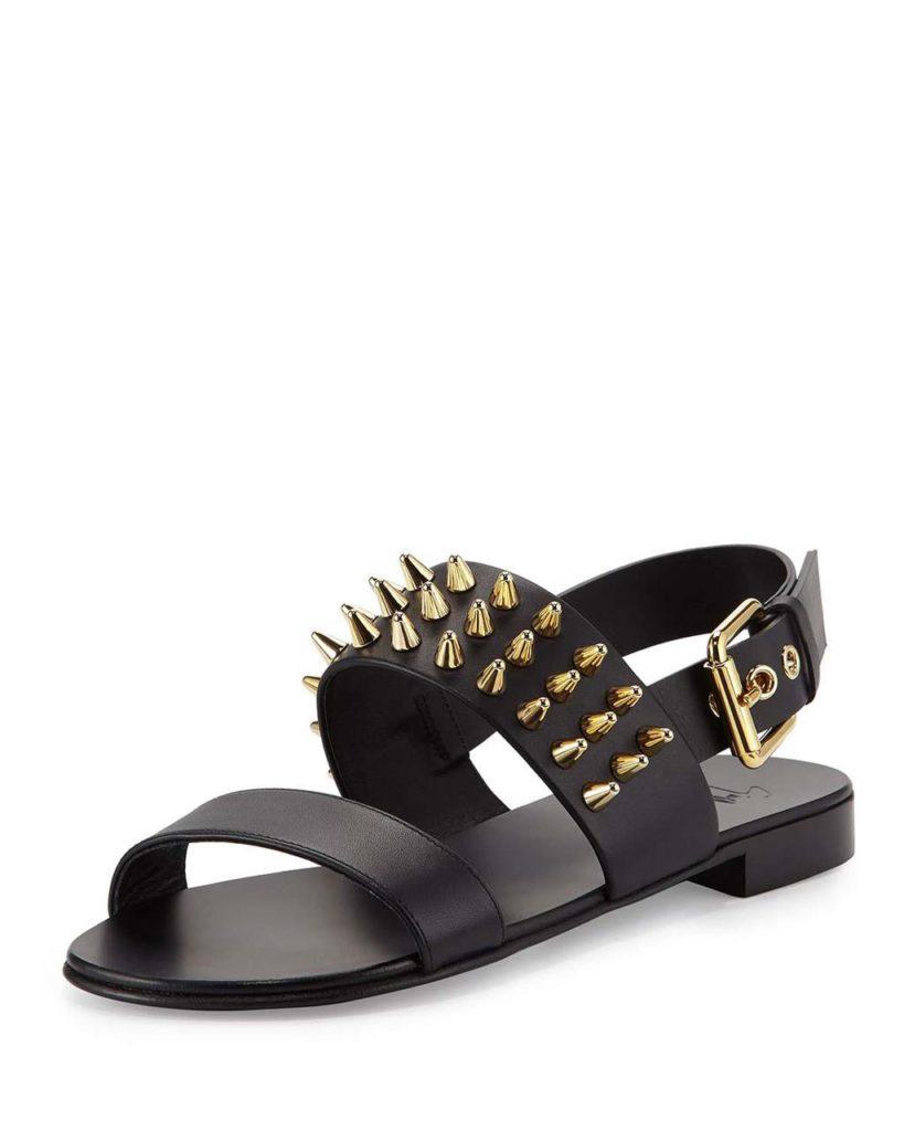 Giuseppe Zanotti Men's Studded Leather Strap Sandal