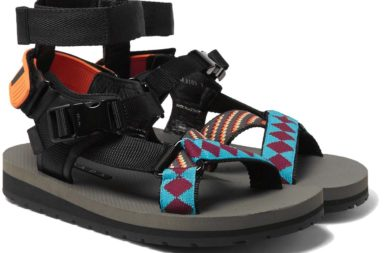 Prada Leather, Webbing And Rubber Sandals_1