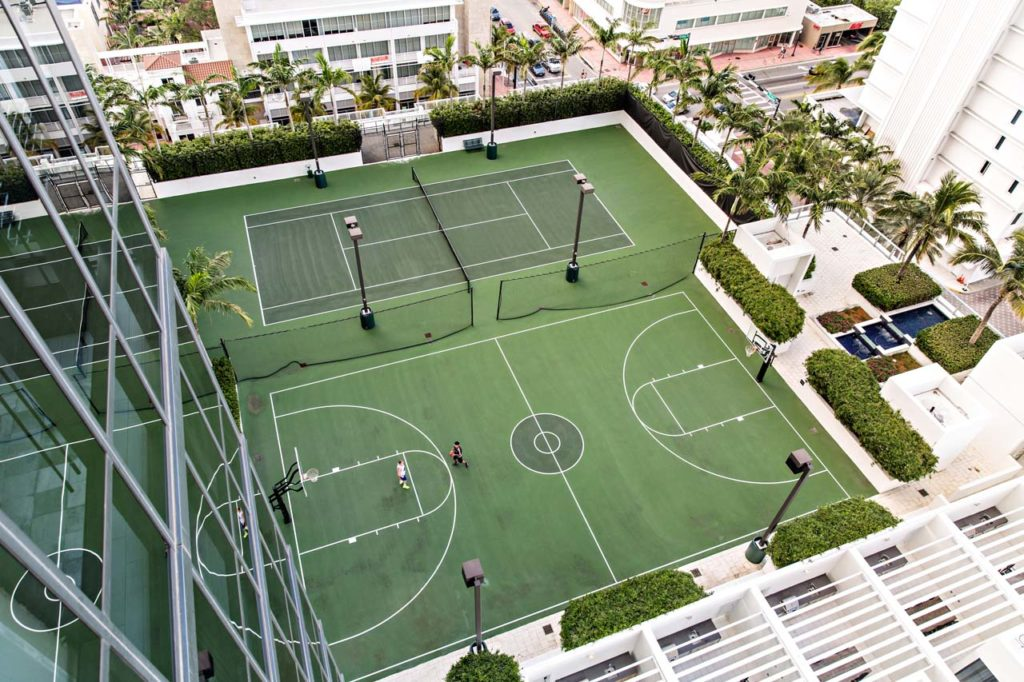 W South Beach - Overhead Shot_Basketball_Tennis Courts