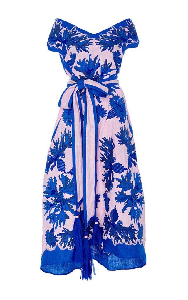 Yuliya Magdych Cornflowers Midi Dress