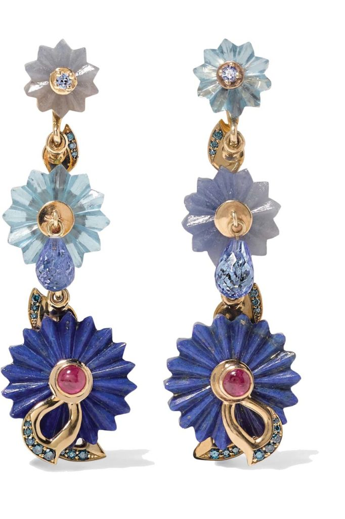 Alice Cicolini 9-karat Gold Multi-stone Earrings_1