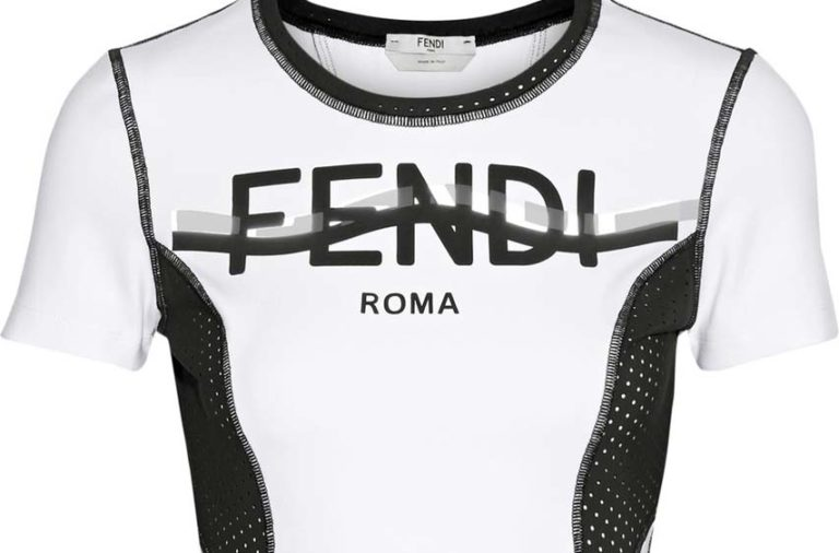 Fendi Perforated Coated Stretch Top