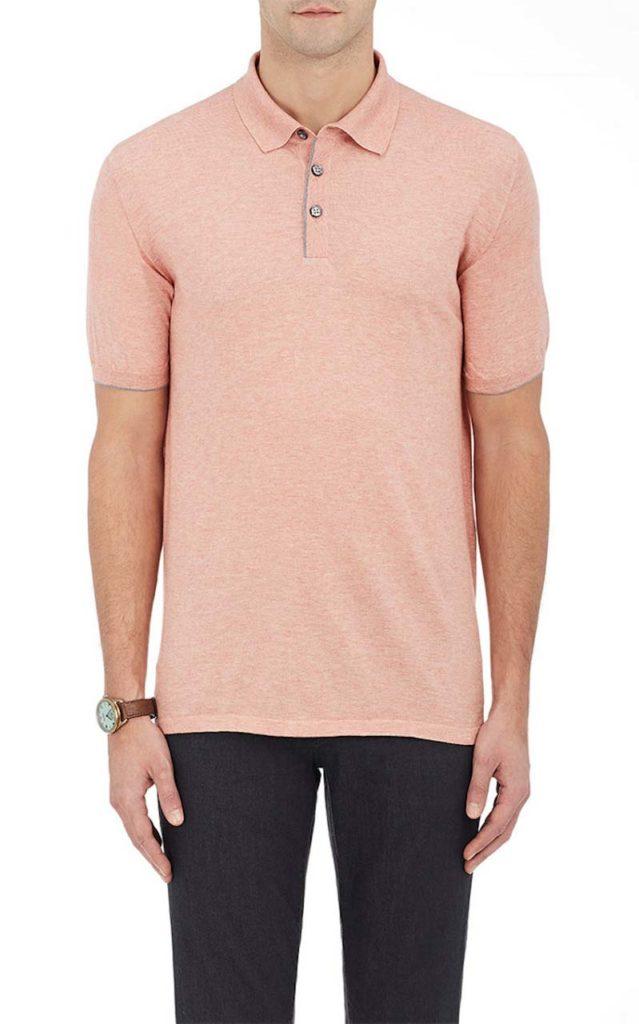 Fioroni Sea Island Cotton-Cashmere Polo Shirt