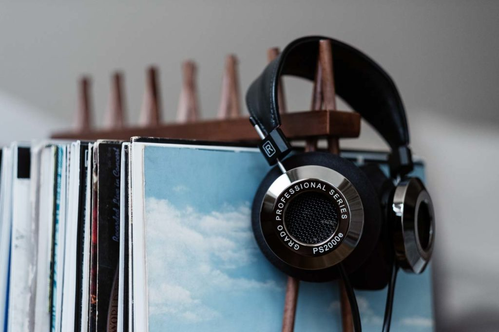 grado, grado labs, grado headphones, sunset park, brooklyn, handmade, hand-built, brooklyn headphone company, smoked chrome, black chrome, flagship, vinyl rack, ps2000e