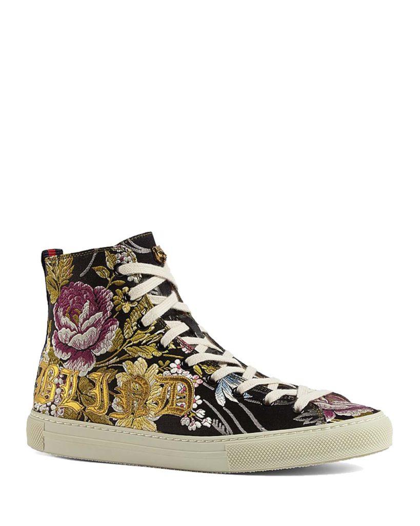 Gucci Major Rose-Print High-Top Sneakers_1