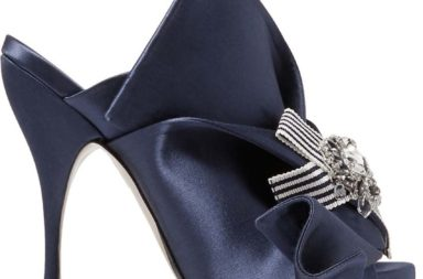 No. 21 Embellished Knotted Satin Mules
