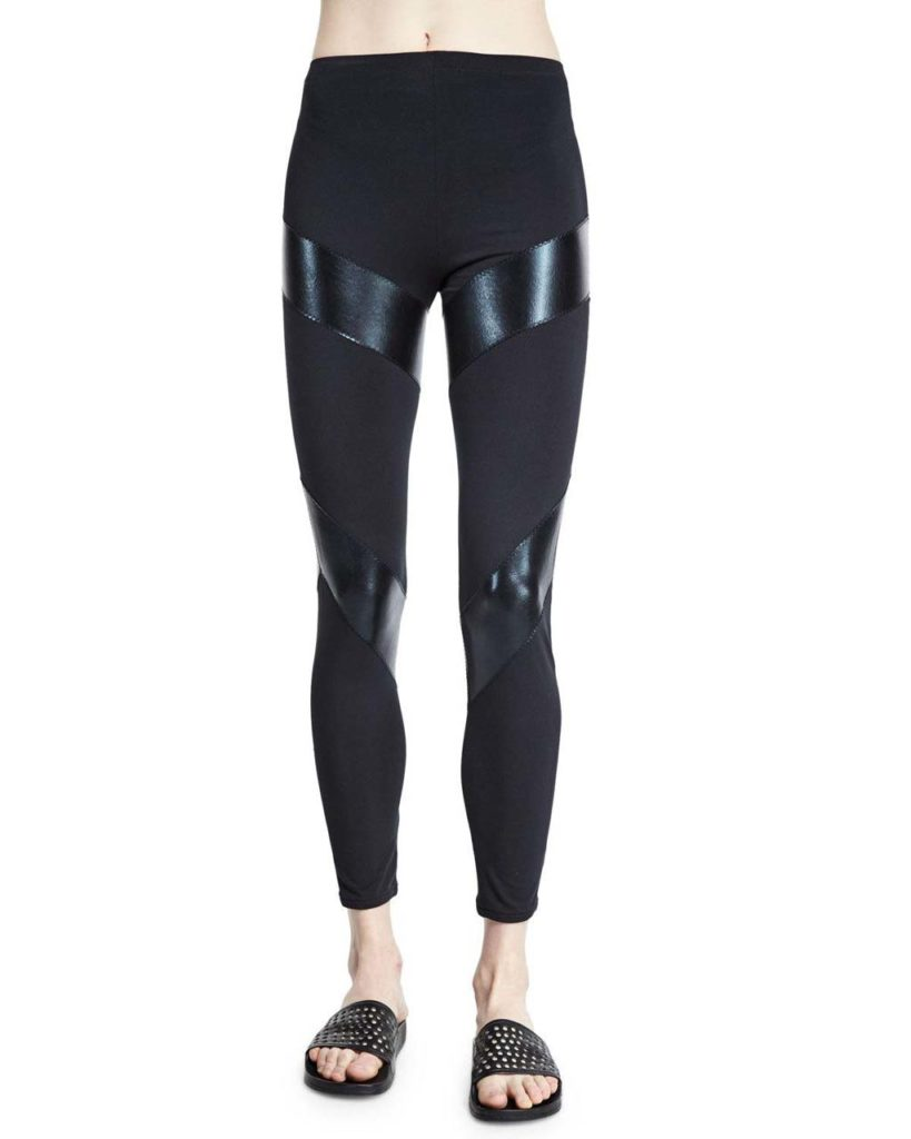 Norma Kamali Compression Fitted Sport Ankle Pants