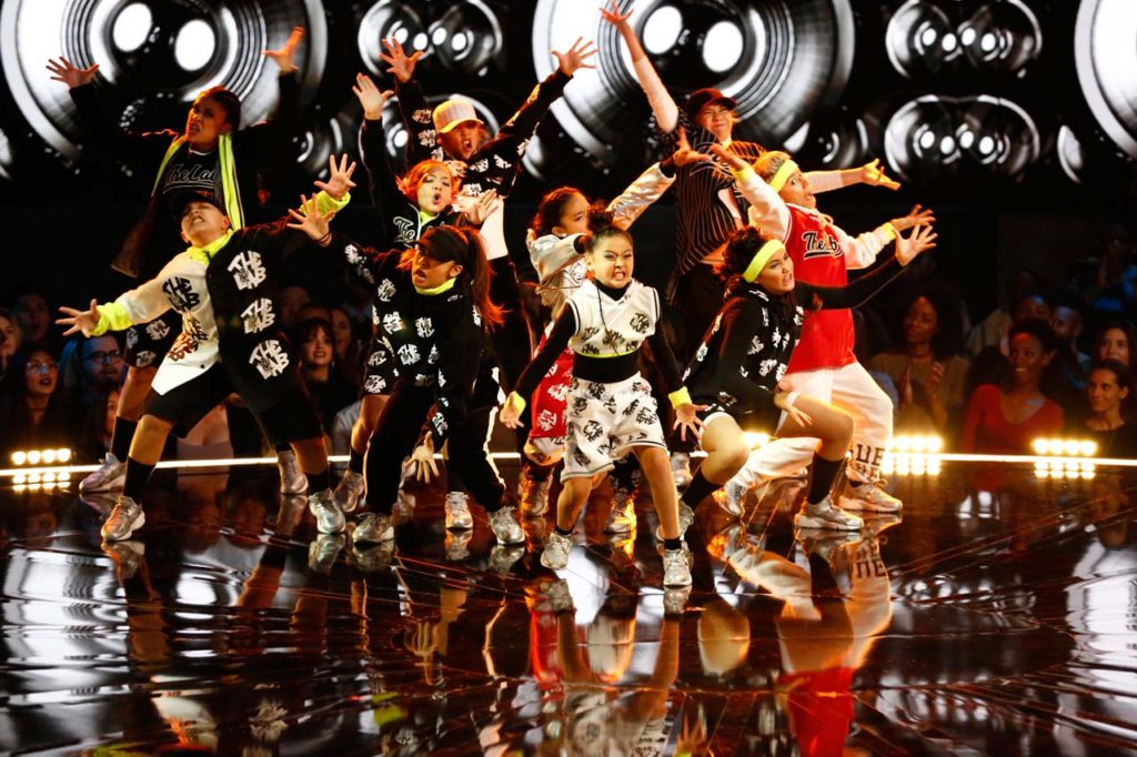 The Lab performs on WORLD OF DANCE. ©NBCUniversal. CR: Justin Lubin/NBC.