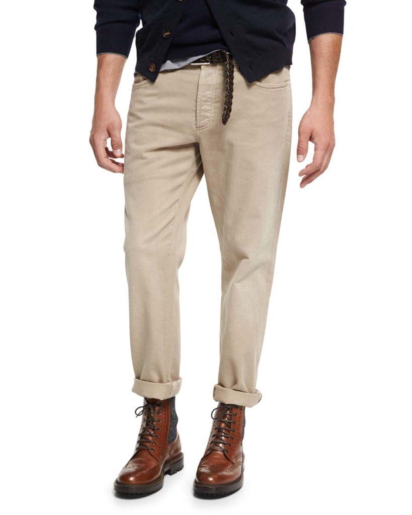 Brunello Cucinelli Cotton Five-Pocket Pants