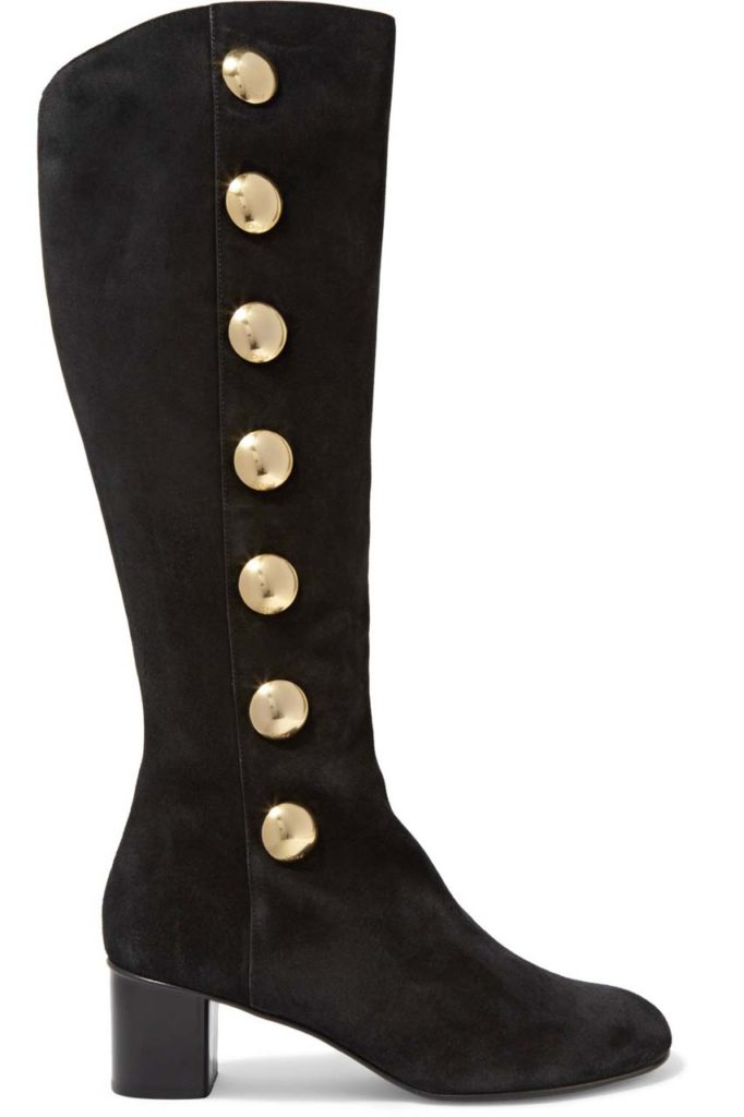 CHLOÉ Orlando Studded Suede Knee Boot