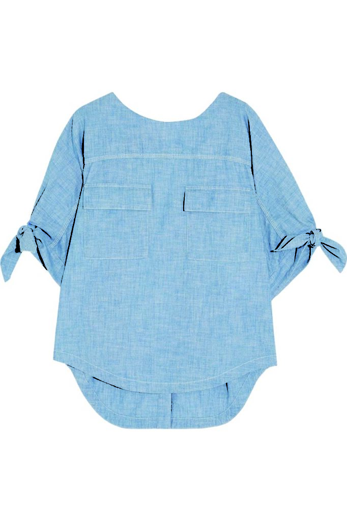 Chloé Cotton-Chambray Top_1