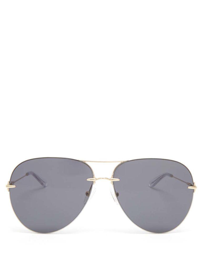 Christopher Kane Aviator Metal Sunglasses
