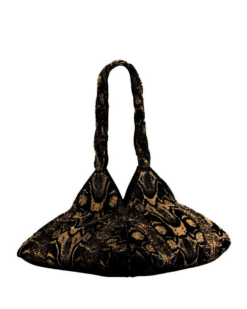 Givenchy Pyramid Python-Print Shoulder Bag_1