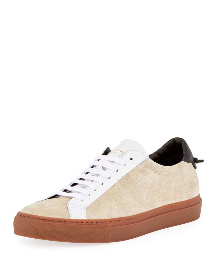 Givenchy Urban Street Colorblock Suede Low-Top Sneaker, Beige 1