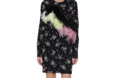 MSGM Floral Print Sheath Dress Model