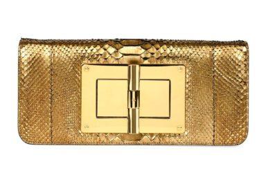 TOM FORD Natalia Long Cosmo Python Clutch Bag