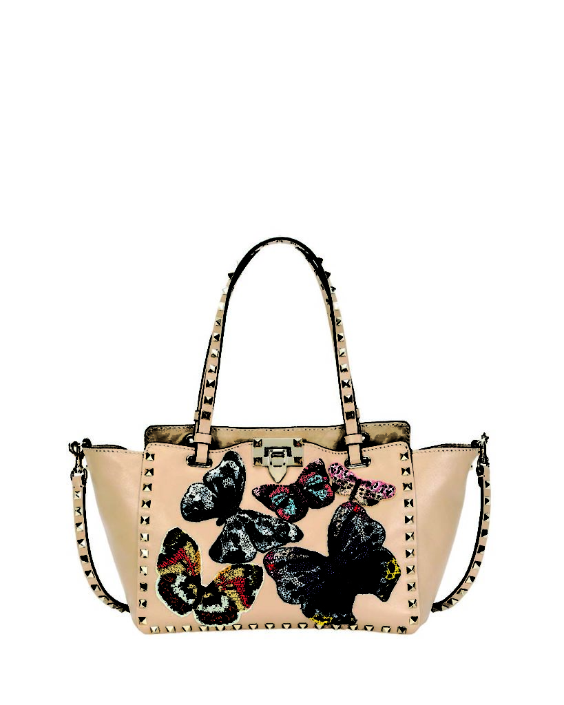 Valentino Garavani Rockstud Small Embroidered Tote Bag_1