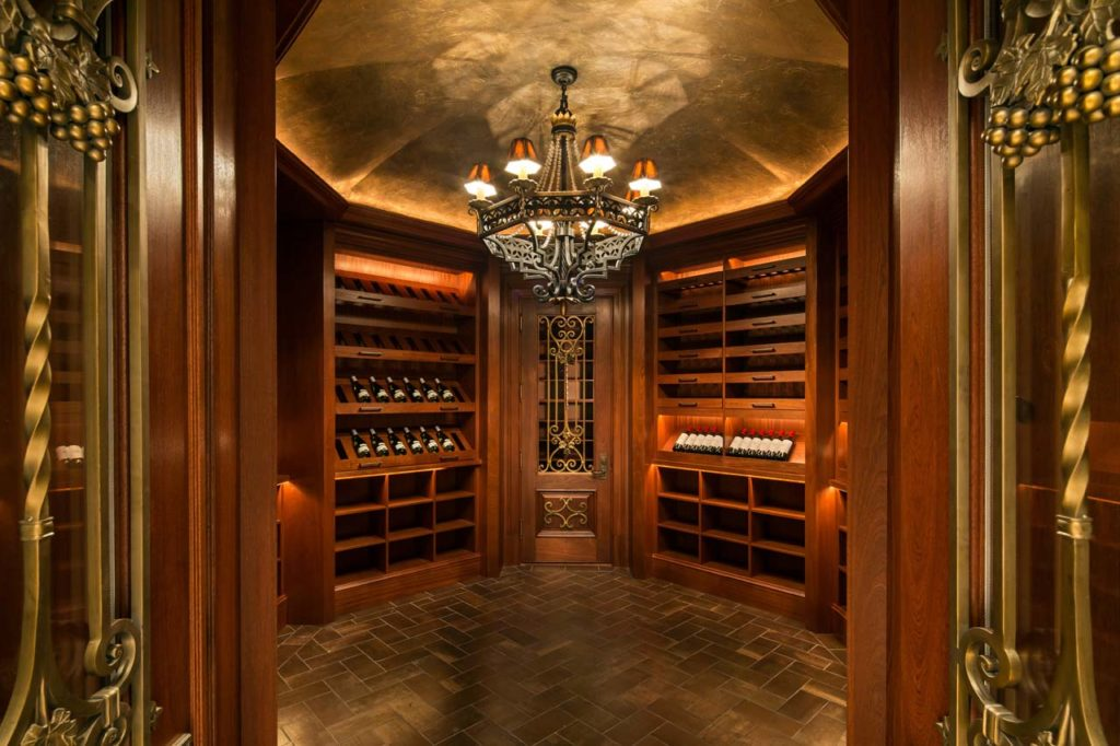 Wine Cellar with Bottle RFID and Fingerprint Entry