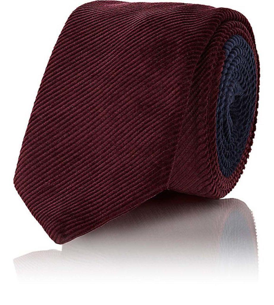 prada corduroy two-tone tie