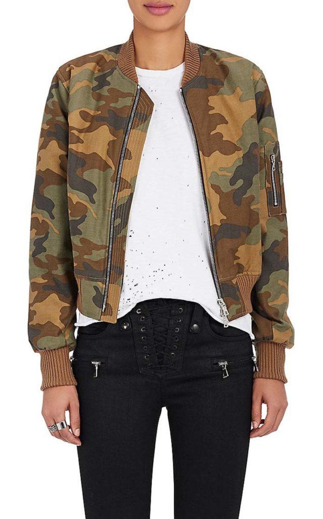 AMIRI Camouflage Cotton Insulated Bomber Jacket