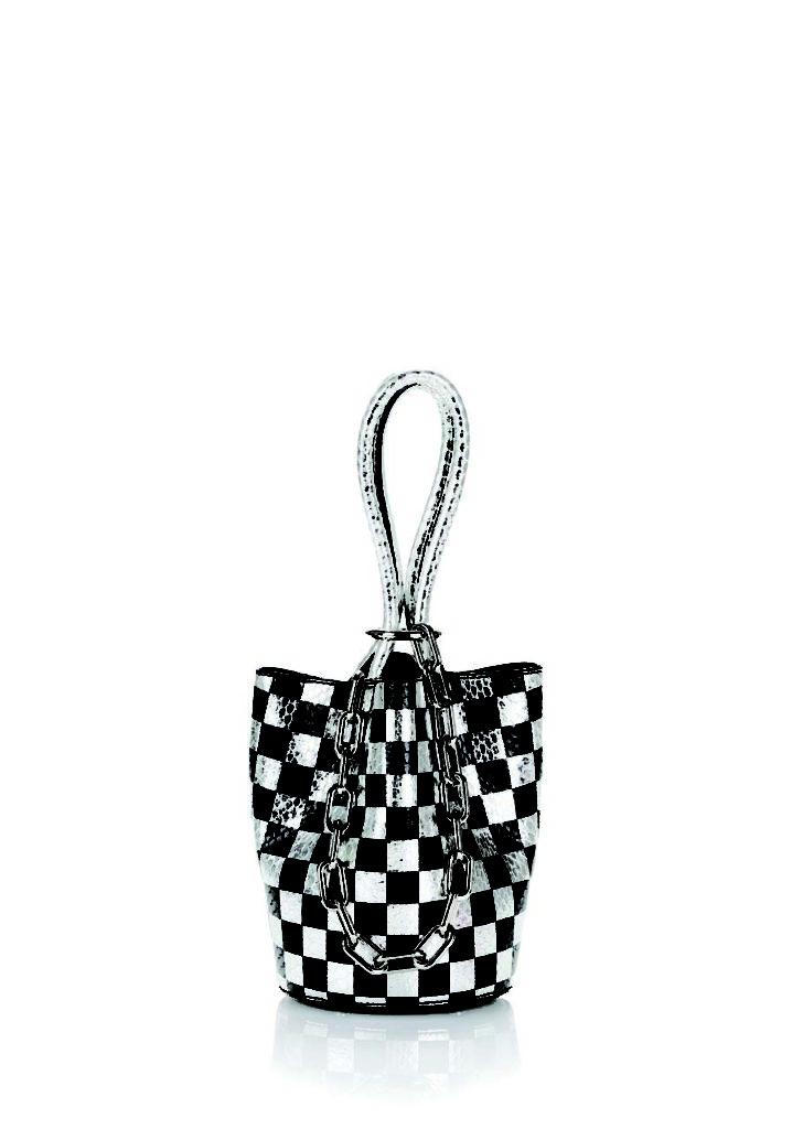 Alexander Wang Roxy Mini Checkerboard Bucket Bag_1