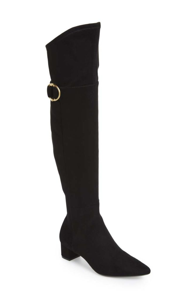 Calven Klein Georgeanna Suede Over-The-Knee Boot