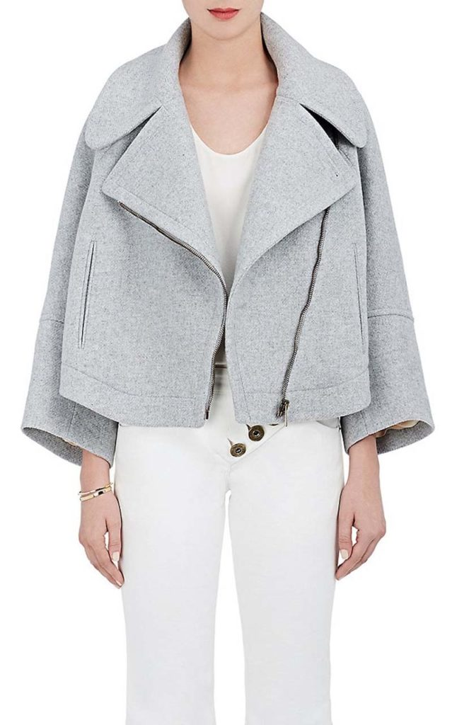 Chloé Brushed Melton Asymmetric-Front Jacket
