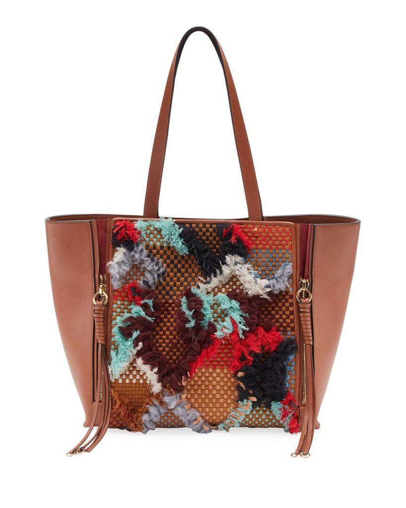 Chloe Milo Medium Tapestry Woven Tote Bag