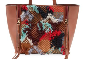 Chloe Milo Medium Tapestry Woven Tote Bag