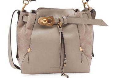 Chloe Owen Medium Leather Bucket Bag