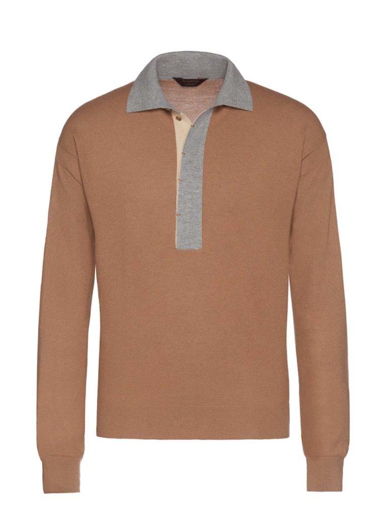 Ermenegildo Zegna Tri-colour Couture Polo Shirt