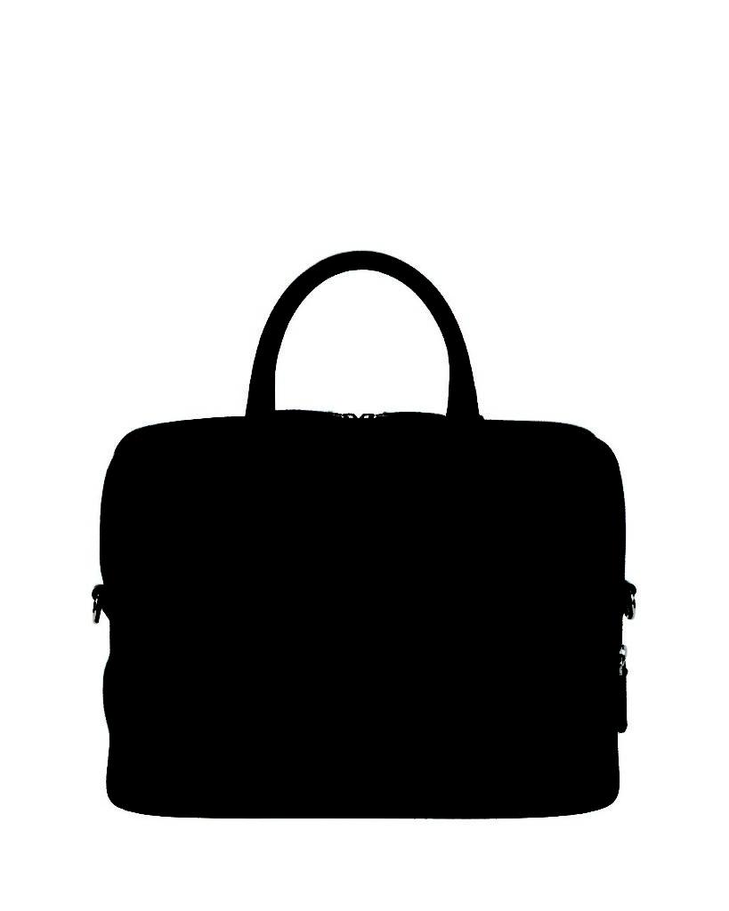Giorgio Armani Caviar Leather Briefcase, Red_1